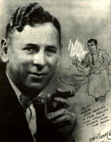 sketch of jack dempsey by reuben lucieus goldberg