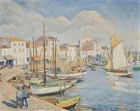 vue d'un port méditerrannéen by paul lemasson