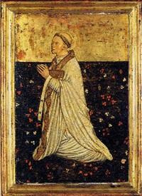 vescovo in preghiera by jacobello del fiore