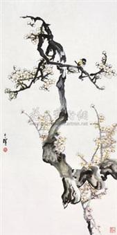 红梅 by liang zhanfeng