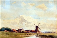 cley mill, norfolk by arthur gerald ackermann