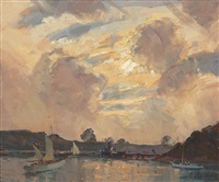 evening, berrys bay, sydney by james ranalph jackson