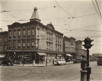graham and metropolitan avenues, brooklyn, new york by berenice abbott