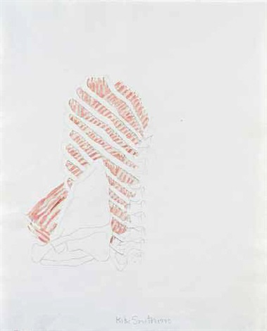 untitled rib drawing by kiki smith