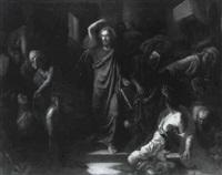 jesus chassant les marchands du temple by frédéric théodore lix
