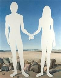 siluetas en la playa by claudio bravo