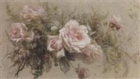 blumenstilleben mit rosen by constance von münch-bellinghausen