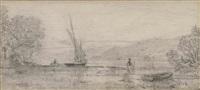 embouchure de la veveyse by francois-louis-david bocion