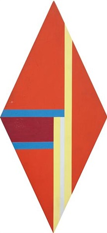 rhomb in red yellow and blue by ilya bolotowsky