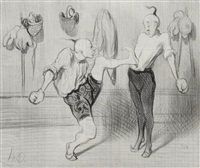 un complément de brillante education, pl.17 (from voyage en chine) by honoré daumier
