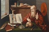 der heilige hieronymus in seinem studierzimmer by marinus van reymerswaele