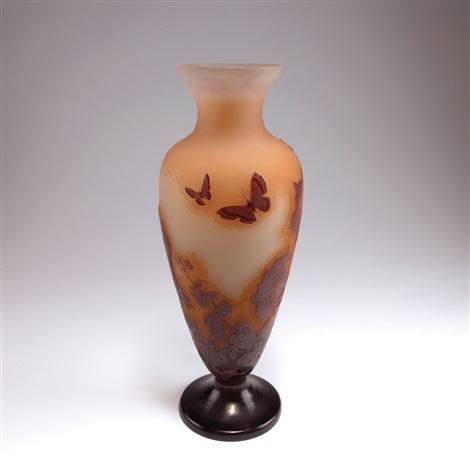 vase de tristesse volubilis et papillons de nuit by cristallerie d 39 emile gall on artnet. Black Bedroom Furniture Sets. Home Design Ideas