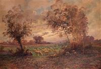 paesaggio con gregge by leonardo roda
