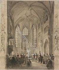 cathedral interior by rudolf von alt