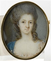 portrait of a woman, friederike sophie wilhelmine of prussia(?) by pierre le sage