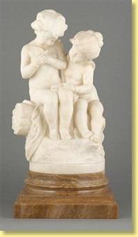 deux enfants à l'oiseau by italian school-florentine (20)