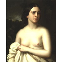 portrait of a woman by joseph (guiseppe) fagnani