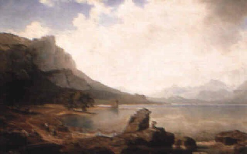 a lakeside view by wilhelm porttmann