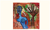 blue life tree by kokian