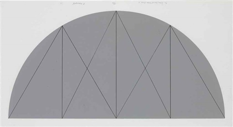½ gray curved area series x by robert mangold