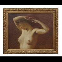 bröstbild av kvinna by august vilhelm nikolaus hagborg