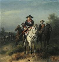könig friedrich ii. zu pferde by wilhelm camphausen