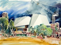 construction of festival centre by mervyn ashmore smith