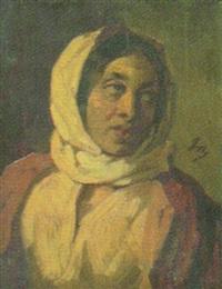kvinna i sjalett by philippe auguste jeanron