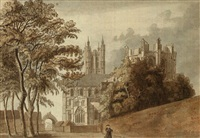 canterbury cathedral, kent by francis (capt.) grosse