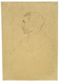 brustbildnis eines mannes im profil by gustav klimt