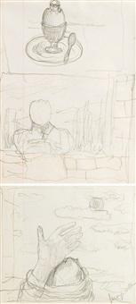 etudes (recto-verso study) by rené magritte