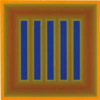 temple of dark blue and orange by richard anuszkiewicz