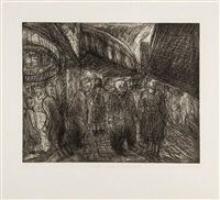 outside kilburn underground station by leon kossoff