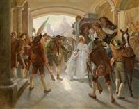 einzug andreas hofer und seiner mannen in die hofburg in innsbruck by franz xavier simm