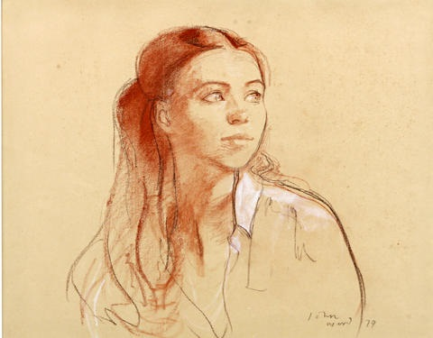 portrait of a young lady study by john ward