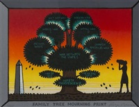 family tree mourning print by roger brown