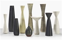 group of ten vases by carl-harry stålhane