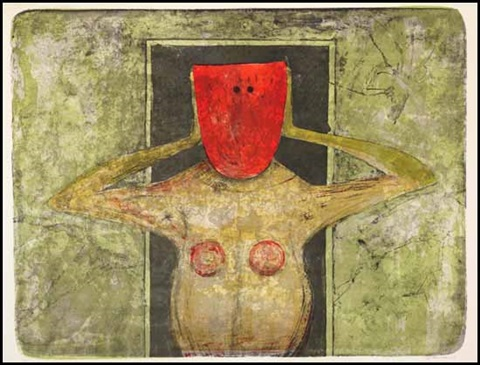 red mask by rufino tamayo