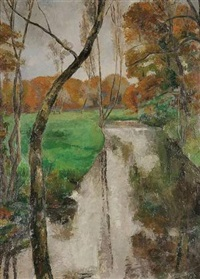 paysage by eugene louis corneau