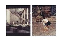 dos cabezas (grafitti con niño); abraham lincoln y san juan bosco (2 works) by carlos garaicoa