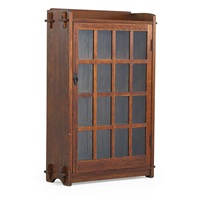 single-door bookcase by gustav stickley