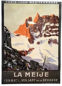 la meije - versant de la bérarde (3982m) by georges dorival