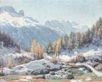 mont blanc. première neige à argentières (col des montets) by angelo abrate