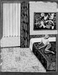 häusliche szene im schlafzimmer by almut heise
