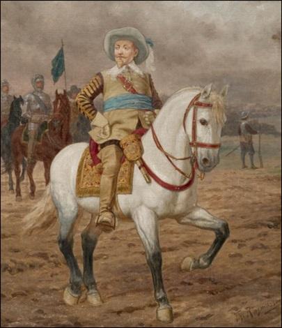 kustaa ii adolf hevosineen (gustaf ii adolf and his horse) by thorvald rasmussen