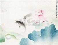 荷塘鲤鱼 by zhu peijun