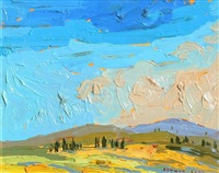 july sky, duncans cove barrens by arthur george lloy