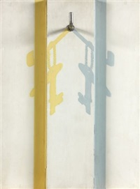 n°154-two colored shadows of a key by jiro takamatsu