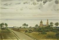 historische stille bei radonezh by alexey shmarinov