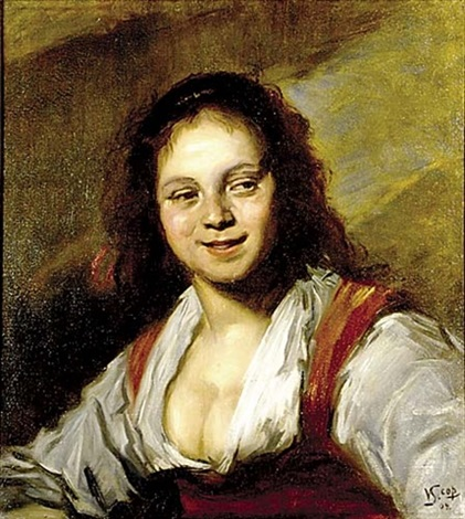 gypsy girl by frans hals the elder